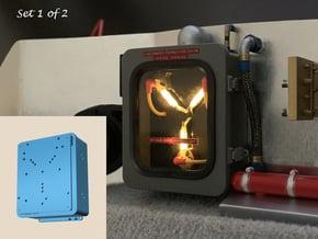 1:8 BTTF DeLorean Flux Capacitor set 1 of 2 in Smooth Fine Detail Plastic