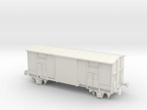 Carro F in scala TT in White Natural Versatile Plastic