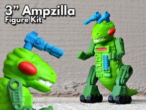 """Ampzilla, 3"""" Version  in White Natural Versatile Plastic"""