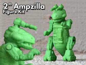 "Ampzilla, 2"" Version. in Green Processed Versatile Plastic"