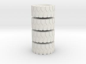 All Terrain Wheels x4 #1 in White Natural Versatile Plastic