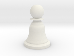 Pawn White - Bell Series in White Natural Versatile Plastic