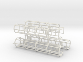 1/50th or 1/48th Safety Cage Industrial Ladder in White Natural Versatile Plastic