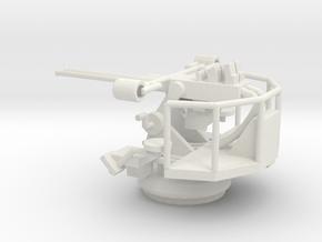 1/96 Scale Twin 40mm Bofor Mk3 in White Natural Versatile Plastic