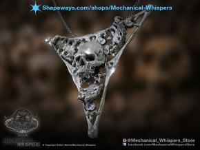 Triangle Bone Pendant in Polished Nickel Steel