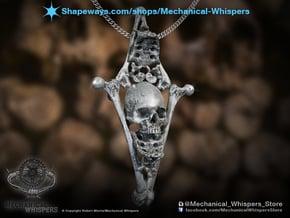 Diamond Bone Pendant in Polished Nickel Steel