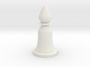 Bishop White - Bell Series in White Natural Versatile Plastic