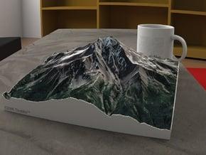 Mt. Jefferson, Oregon, USA, 1:25000 in Natural Full Color Sandstone