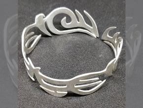Tribal Bracelet in Polished Silver: Large