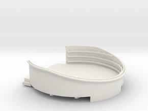 1/96 USN 40mm Quad Gun Tub Aft Superstructure port in White Natural Versatile Plastic
