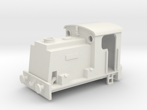 Scruff Engine Shell OO/HO in White Natural Versatile Plastic