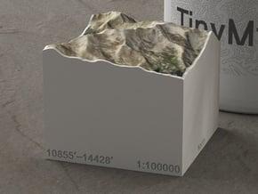 Mt. Massive, Colorado, USA, 1:100000 Explorer in Natural Full Color Sandstone