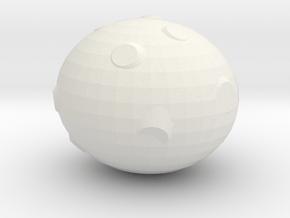 Asteroid in White Natural Versatile Plastic
