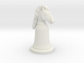 Knight White - Bell Series in White Natural Versatile Plastic