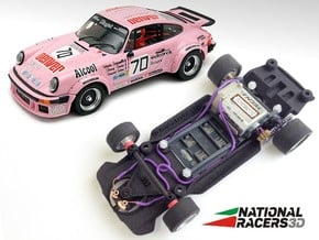 3D Chassis - FLY Porsche 911-934 (SW/Inline) in Black Natural Versatile Plastic
