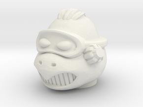 Turly Gang Primus Head - Multisize in White Natural Versatile Plastic: Medium