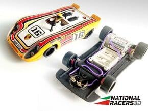 3D Chassis - Fly Porsche 908 Flunder/Flunder LH in Black Natural Versatile Plastic