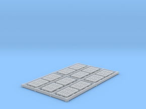 1-87 Scale Pallets x12 in Smooth Fine Detail Plastic