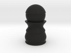 Pawn Black - Bullet Series in Black Natural Versatile Plastic