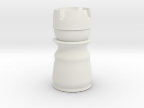 Rook White - Bullet Series in White Natural Versatile Plastic