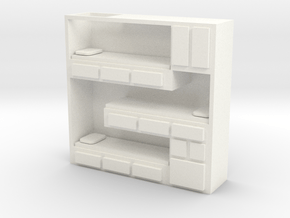HO Scale Stacked Bunks in White Processed Versatile Plastic