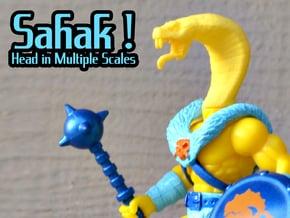 Sahak / Snaker Head - Multisize in Yellow Processed Versatile Plastic: Small