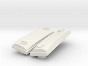 Traxxas E-Revo 2.0 Hood repair or protector in White Natural Versatile Plastic