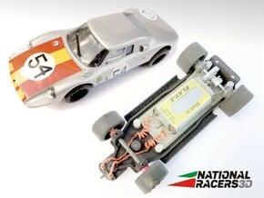 3D Chassis - MRRC Porsche 904 GTS (Inline) in Black Natural Versatile Plastic