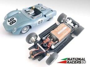 3D Chassis - MRRC King Cobra (Inline) in Black Natural Versatile Plastic
