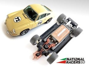 3D Chassis - MRRC Porsche 911 (Inline) in Black PA12