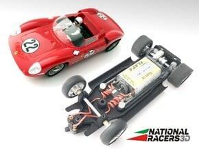 3D Chassis - Monogram Ferrari 275 (Inline) in Black Natural Versatile Plastic