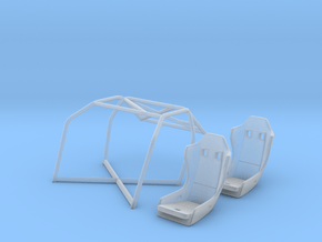 03-C3-89 1989 Corvette Challenge roll cage/seats in Smooth Fine Detail Plastic