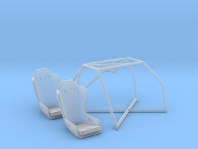 03-C3-88 1988 Corvette Challenge roll cage/seats in Smooth Fine Detail Plastic
