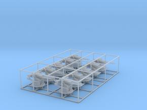 "1/200 IJN 12.7 cm/40 (5"") Type 89 Twin Set x10 in Smooth Fine Detail Plastic"