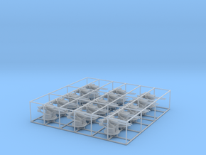 "1/200 IJN 12.7 cm/40 (5"") Type 89 Twin Set x15 in Smooth Fine Detail Plastic"