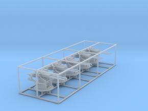 "1/200 IJN 12.7 cm/40 (5"") Type 89 Twin Set x5 in Smooth Fine Detail Plastic"