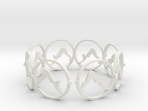 downward facing dog yoga ring in White Natural Versatile Plastic