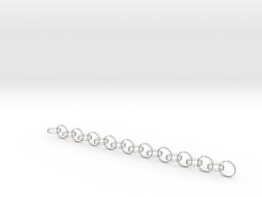 yoga jewelry - 20 rings in Matte Bronzed-Silver Steel