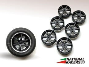 3D Wheel Inserts - Volk Racing Forged RayTE37b in Smooth Fine Detail Plastic