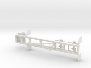1/50th Short Frame Tandem Axle rear trailer in White Natural Versatile Plastic