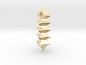 27mm 5 stellated cuboctahedron  gmtrx in 14k Gold Plated Brass