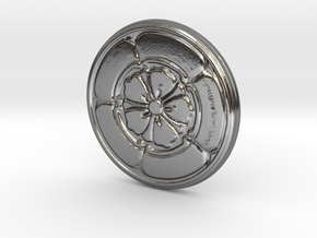 myFirstCoin in Polished Silver: 28mm