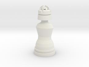 King White - Droid Series in White Natural Versatile Plastic