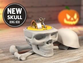 Skull Ring Box (FULL MODEL) - Engagement Ring Box in White Processed Versatile Plastic