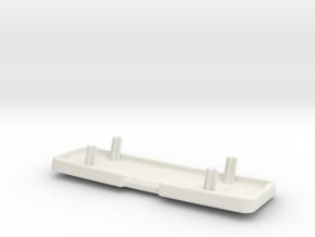 Furtif Backrest Logo Knobling-1 in White Natural Versatile Plastic