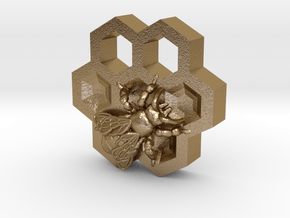 Honey Bee in Polished Gold Steel