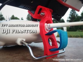DJI Phantom - FPV Monitor Mount in White Processed Versatile Plastic