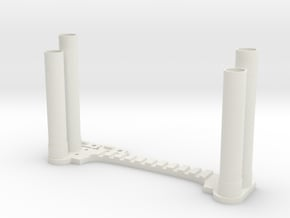 Clodbuster Dual Exhaust in White Natural Versatile Plastic