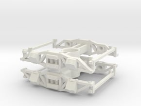 On30 Gilpin Tram Truck in White Natural Versatile Plastic