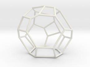 """""""Irregular"""" polyhedron no. 5 in White Natural Versatile Plastic: Large"""